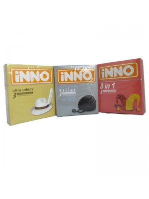 INNO Prezervative striate (3 buc)