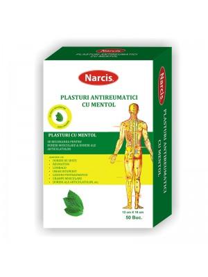 NARCIS Plasturi antireumatici, 12 cm x 18 cm cu mentol (1 buc)