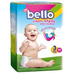 BELLO Scutece copii MIDI, 5 - 9 kg ( 40 buc )