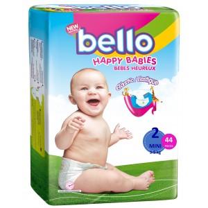 BELLO Scutece copii MINI, 3 - 5 kg ( 44 buc )