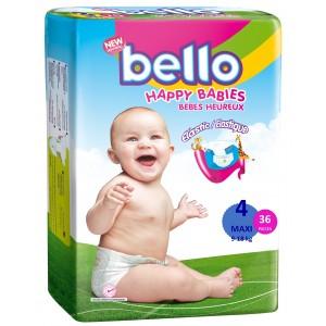 BELLO Scutece copii MAXI, 9 - 18 kg  ( 36 buc )