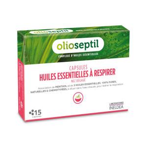 OLIOSEPTIL ULEIURI ESENTIALE PTR INHALATII (HUILLE A RESPIRER) - 15 capsule