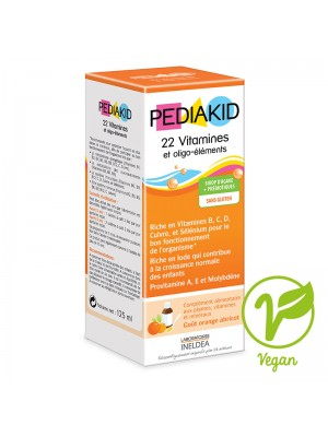 PEDIAKID 22 VITAMINES & OLIGO-ELEMENTS - sirop 125 ml