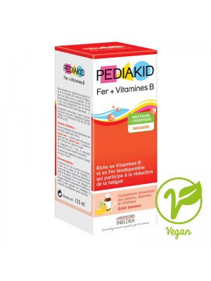 PEDIAKID FIER + VITAMINA B6 - sirop 125 ml