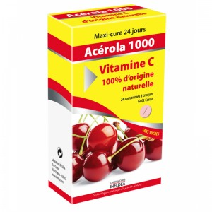 VITAMIN'22 ACEROLA 1000 NATURAL VITAMIN C - folie 24 tablete