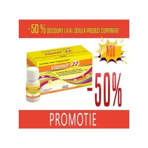 Promotie VITAMIN'22 - CURE FLASH - 2 x Cutie cu 7 monodoze (shot-uri de baut) de 30 ml
